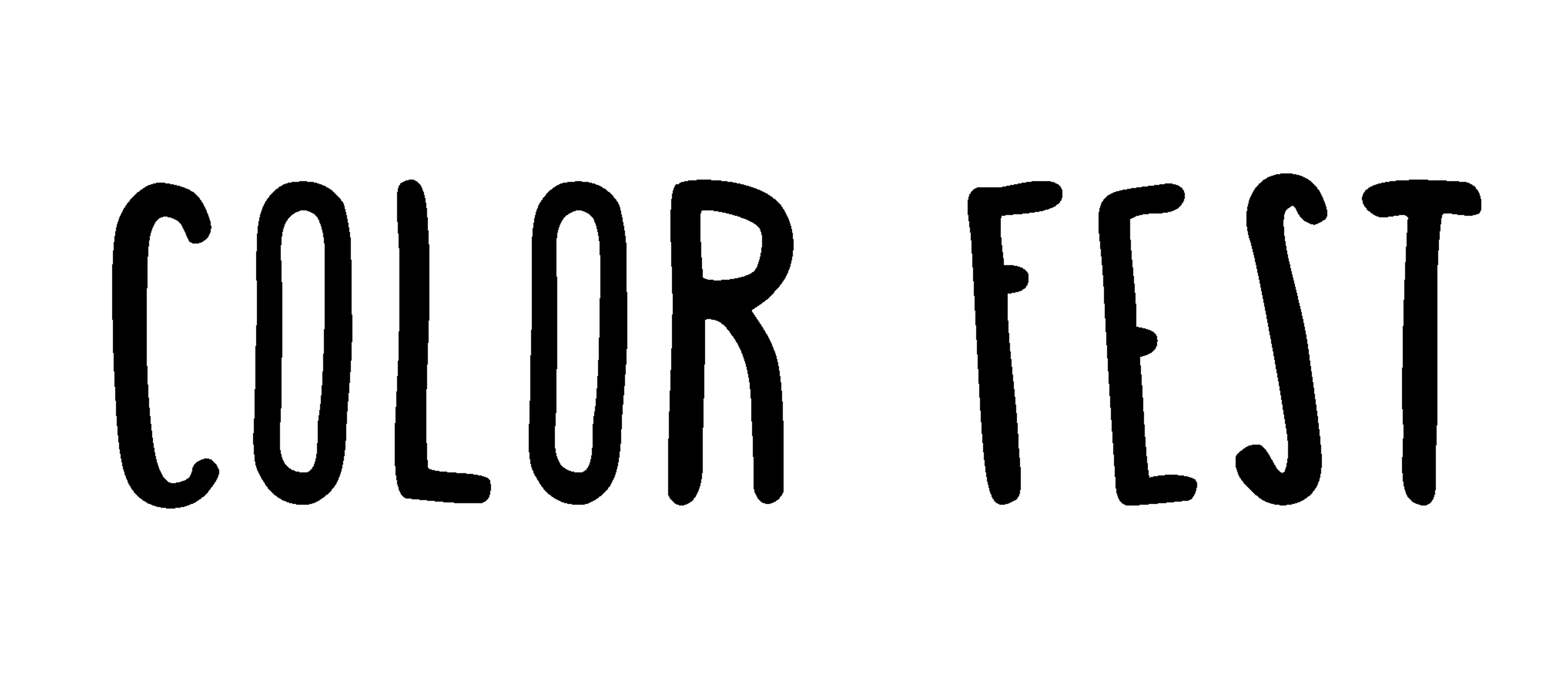 LOGO Color Fest nero white