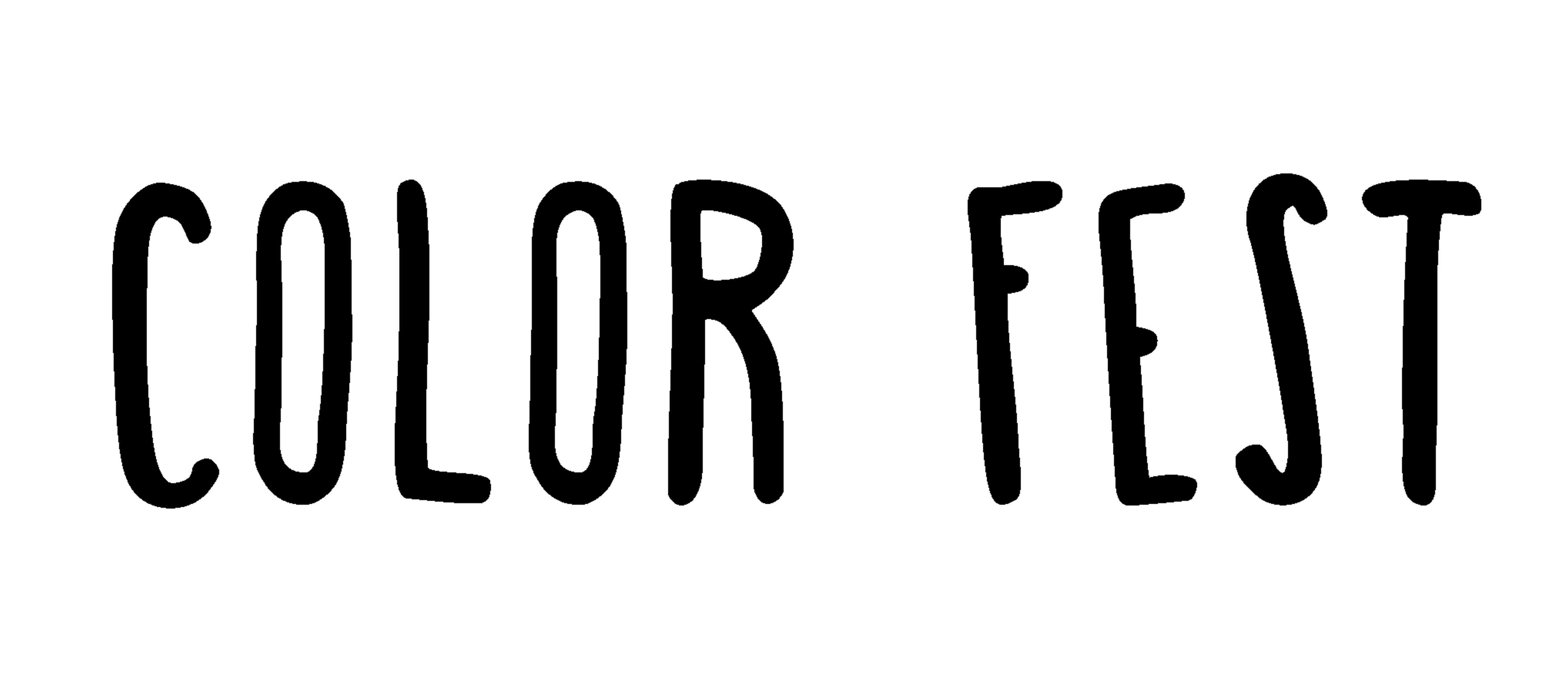 LOGO Color Fest nero white